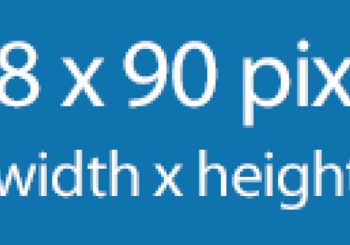 728 x 90 pixel banner